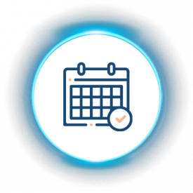 iLuma-Live and Virtual Meetings-glow icons-Asynchronous and Synchronous-events