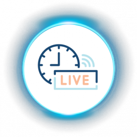 iLuma-Live and Virtual Meetings-glow icons-Live Broadcasts