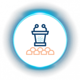 iLuma-Live and Virtual Meetings-glow icons-Scientific Conferences